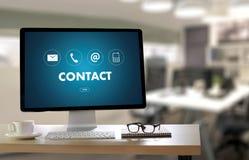Llamada Custo de los E.E.U.U. del CONTACTO (la gente de la línea directa de la atención al cliente CONECTA) Imágenes de archivo libres de regalías