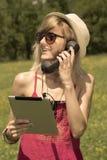 Llamada de Internet al aire libre Fotografía de archivo