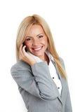 Llamada de la mujer de negocios Foto de archivo libre de regalías