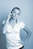 Llamada de la mujer de negocios Imagen de archivo