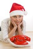Llamada de la Navidad Foto de archivo libre de regalías