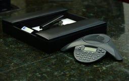 Llamada de la teleconferencia del negocio Imagen de archivo