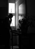 Llamada de medianoche - B&W Imagen de archivo