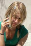 Llamada de teléfono Fotos de archivo