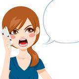 Llamada de teléfono enojada ilustración del vector