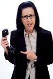 Llamada de teléfono extraña Foto de archivo libre de regalías