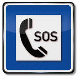 Llamada de teléfono para la ayuda y el SOS Fotos de archivo