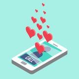 Llamada del amor ilustración del vector
