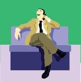 Llamada del hombre de negocios el cliente Imagenes de archivo