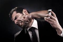 Llamada enojada Imagen de archivo libre de regalías