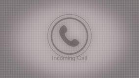 Llamada entrante de la animación Animación abstracta de la llamada entrante con el icono blanco y negro del teléfono ilustración del vector