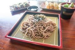 Llamada japonesa Soba de la comida de los tallarines Imágenes de archivo libres de regalías