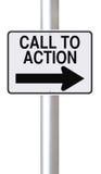 Llamada a la acción Foto de archivo libre de regalías
