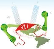 Llamada para la ayuda en América Imagen de archivo