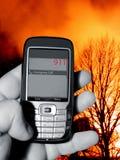 Llamada telefónica de emergencia 911 Imagen de archivo libre de regalías