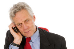 Llamada telefónica enojada Fotos de archivo