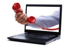 Llamada telefónica roja Imagen de archivo libre de regalías