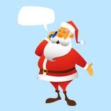 Llamadas de Papá Noel Imágenes de archivo libres de regalías