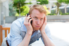 Llamadas de teléfono molestas fotografía de archivo libre de regalías