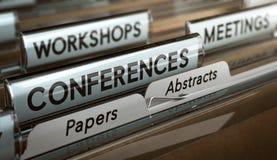 Llamadas para los papeles y extractos para las conferencias, los talleres o Mee ilustración del vector