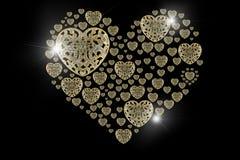 Llamarada de Diamond Gold y piedras preciosas aisladas en backgro negro Imagen de archivo libre de regalías