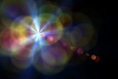 Llamarada de la lente de Digitaces ilustración del vector