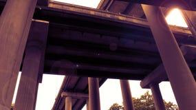 Llamarada de la lente del paso superior Fotos de archivo