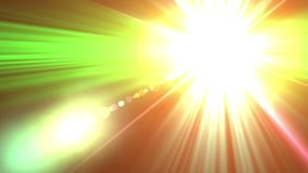 llamarada de la lente 4K que representa el efecto de la estrella del resplandor Fondo de la animación y gráfico del movimiento