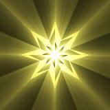 Llamarada de la luz de la estrella del compás de ocho puntos stock de ilustración