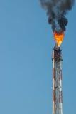 Llamarada en refinería Imagen de archivo libre de regalías