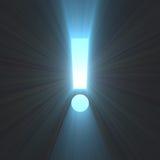 Llamarada ligera brillante de la marca de exclamación Foto de archivo