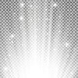 Llamarada ligera de debajo Imágenes de archivo libres de regalías