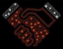 Llamarada Mesh Network Handshake con los puntos de la llamarada ilustración del vector