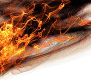 Llamas abstractas del fondo del fuego Foto de archivo libre de regalías