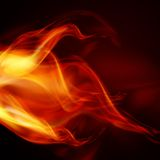 Llamas abstractas del fuego Imagenes de archivo