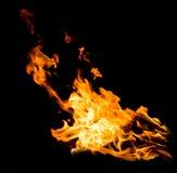 Llamas anaranjadas del fuego Fotos de archivo libres de regalías
