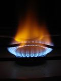 Llamas azules del gas foto de archivo libre de regalías
