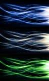 Llamas coloridas complejas de alta tecnología del fuego fijadas Imágenes de archivo libres de regalías