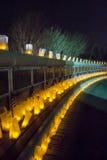 Llamas de la memoria - monumento nacional del día D Fotos de archivo