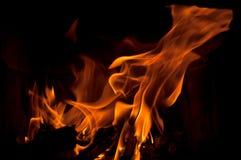 Llamas del fuego Foto de archivo libre de regalías