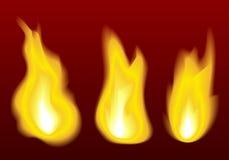 Llamas del fuego Fotografía de archivo