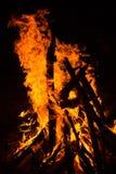 Llamas del fuego en fondo negro Imagen de archivo libre de regalías