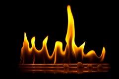 Llamas del fuego en línea Foto de archivo
