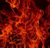 Llamas del fuego rojo del infierno Foto de archivo