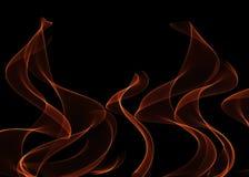 Llamas del fuego sobre negro Fotos de archivo libres de regalías