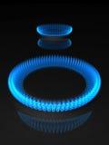 Llamas del gas Imagenes de archivo