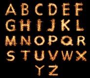 Llamas inglesas de las letras Foto de archivo