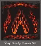 Llamas rojas fijadas Imagen de archivo libre de regalías