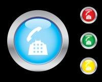 Llame por teléfono a los iconos contestados Imagen de archivo libre de regalías