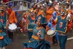 Llamerada dancers at the Oruro Carnival in Bolivia Royalty Free Stock Image